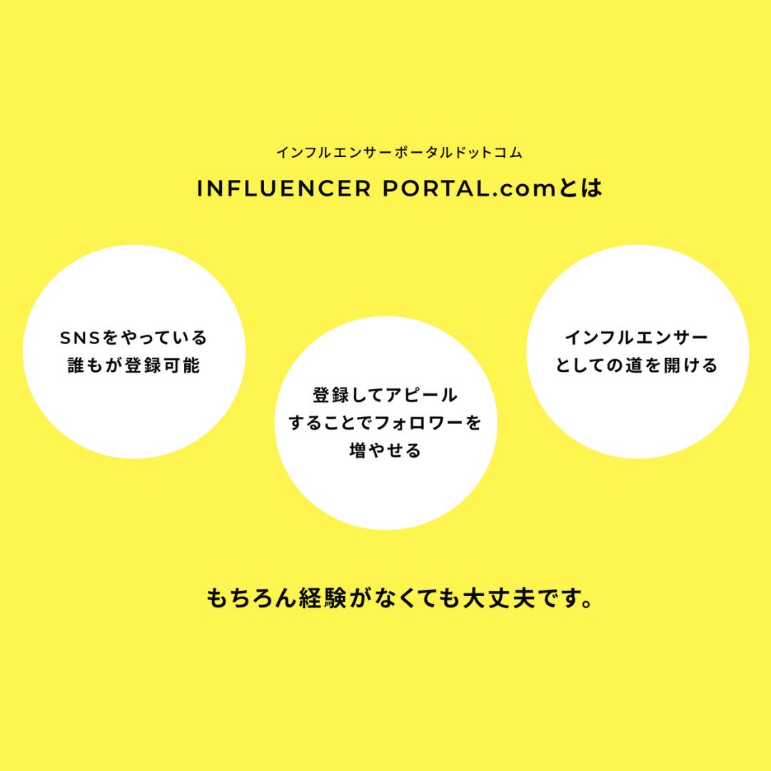 """インフルエンサーポータルサイト""""INFLUENCER PORTAL.com""""サイト開設のお知らせ"""